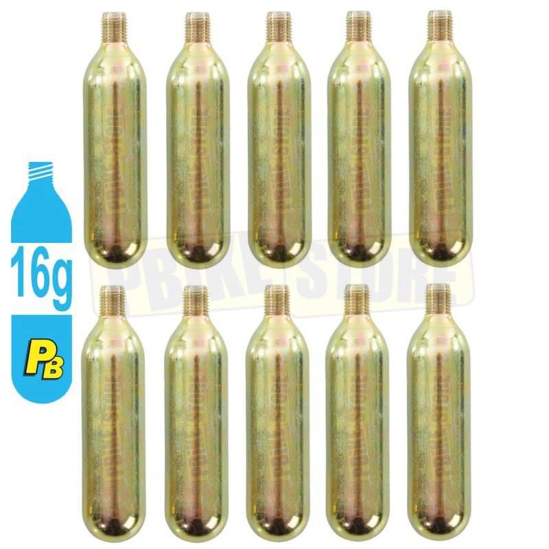 10 Bombolette CO2 16 Grammi con Filetto