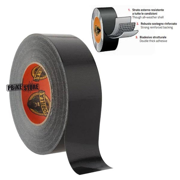 dettagli nastro gorilla tape tubeless per bici e mtb