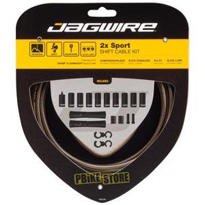 jagwire 2x sport kit guaina cambio colore carbon silver