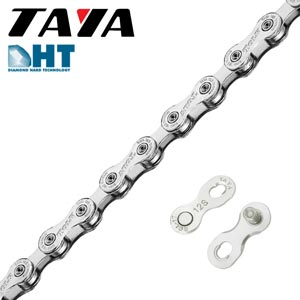 catena taya 12 velocità tolv-121 silver 126 links