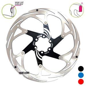 icestop disco freno 203mm con spider in alluminio colore nero 6 fori