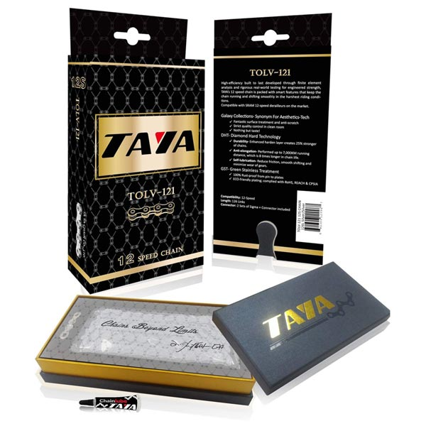 scatola catena taya 12 velocita tolv-121 silver