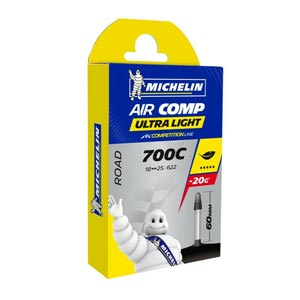 Michelin Camera Strada Air Comp Ultralight A1 700x18-25 Presta 60
