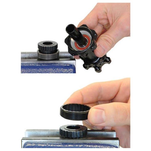 utilizzo chiave dt-swiss 3-pawl per rimuovere la ghiera dentata