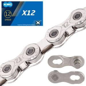 Catena KMC X12 silver 12 velocità 126 Link