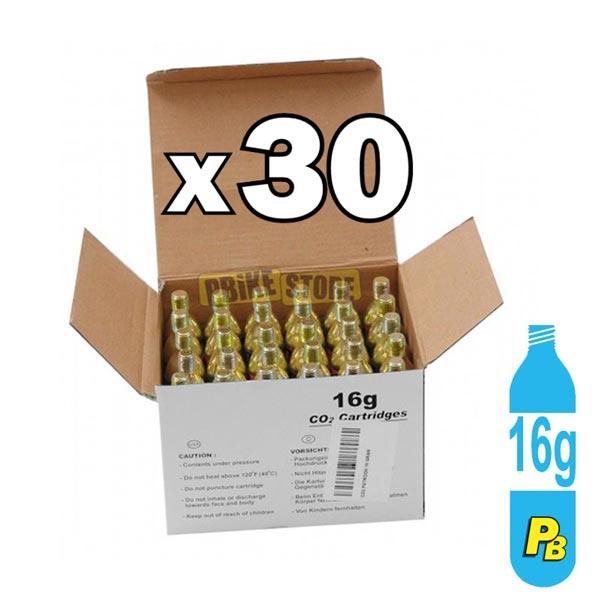 30 Bombolette CO2 16 Grammi con Filetto