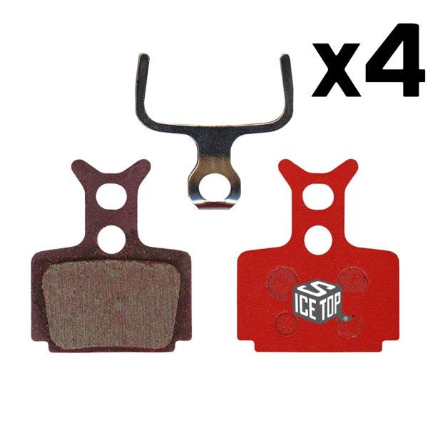 4 Coppie Pastiglie freno Formula R1-RO-RX-T1-THE ONE Icestop