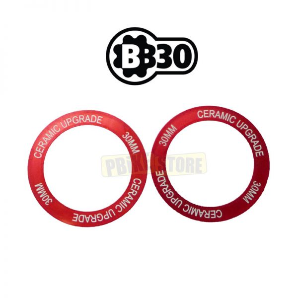 BB30 Bearing Shield Set colore ROSSO