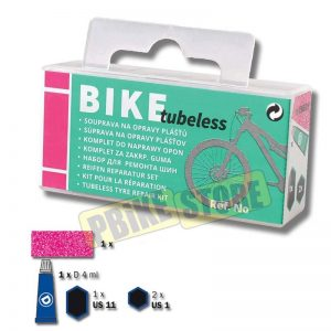 BIKE TUBELESS Kit Ripara Copertoni Mountain Bike