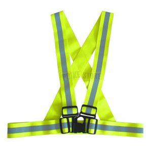 Bretelle rifrangenti alta visibilità moto e bici omologate