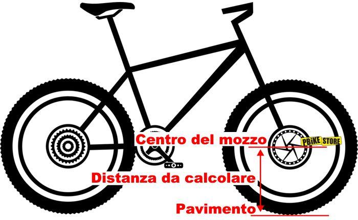 Calcolo circonferenza ruota bici per contachilometri