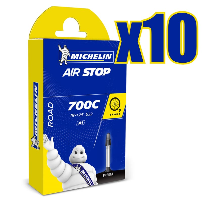CAMERA D/'ARIA MICHELIN AIRSTOP BUTYL 700x18 /<-/> 25c VALVOLA PRESTA 52mm