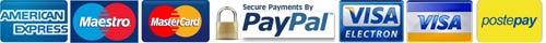 carta di credito visa, postepay, maestro, american express, postepay e paypal