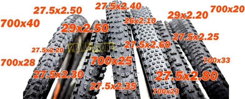 copertoni bici mtb misure