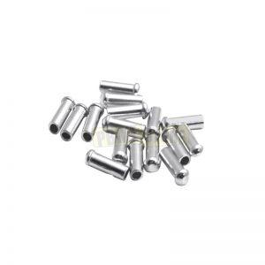 Terminali per cavo cambio e freno in alluminio Silver 10 Pezzi