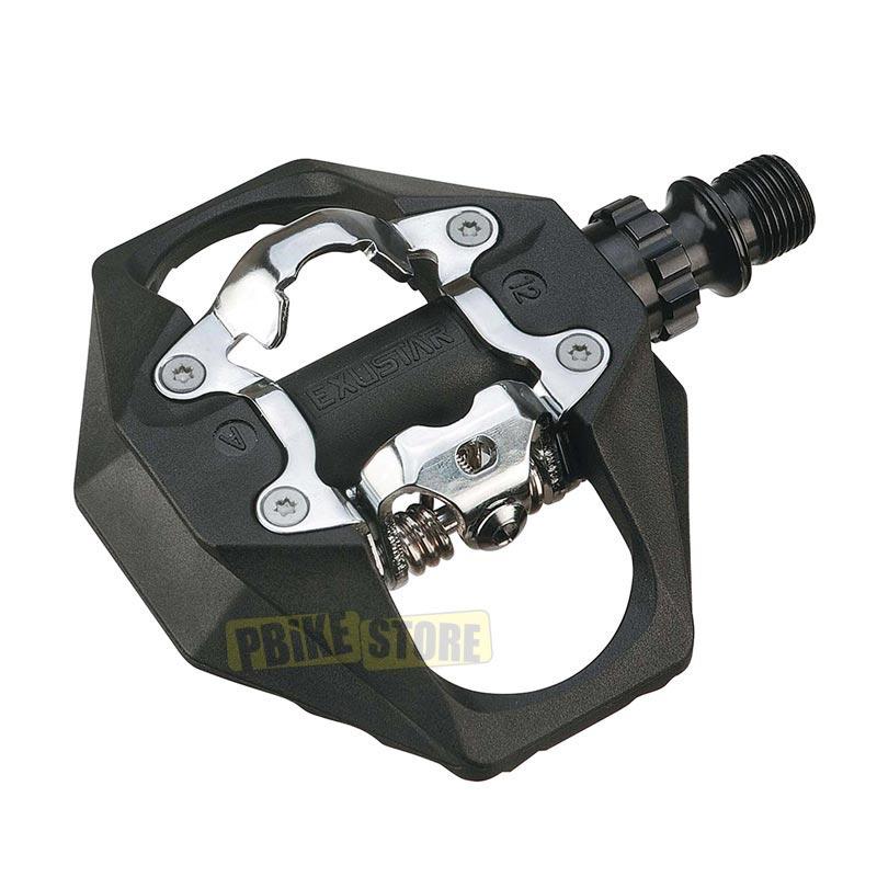 Exustar Pedali MTB E-PM816 doppia funzione Flat-Spd