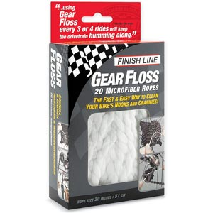 Finish Line Gear Floss spaghi in microfibra 20 pezzi FIN124