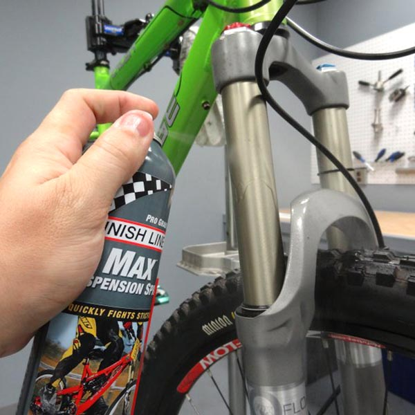 finish line max suspension spray forcelle mtb