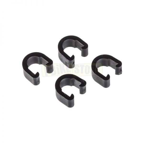 Jagwire C-Clip fissaggio per tubi freno e guaine 4 pezzi