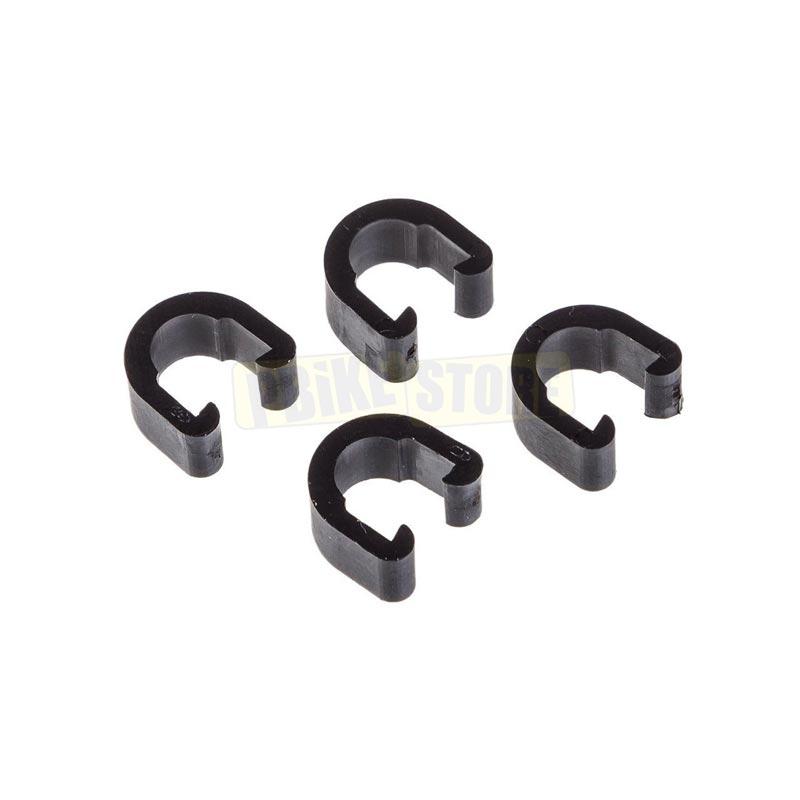 C-Clip ferma guaina per passacavi in alluminio colore nero
