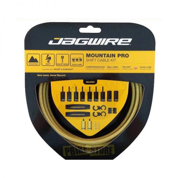 Jagwire Mountain Pro kit completo guaine cambio Oro