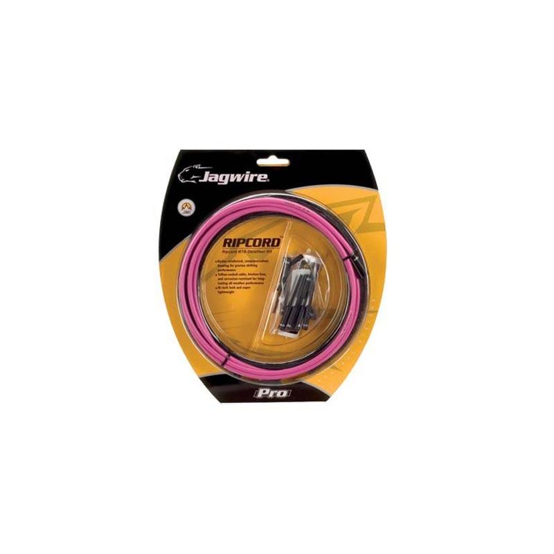 Jagwire Ripcord MTB Kit completo Guaina Cambio Rosa