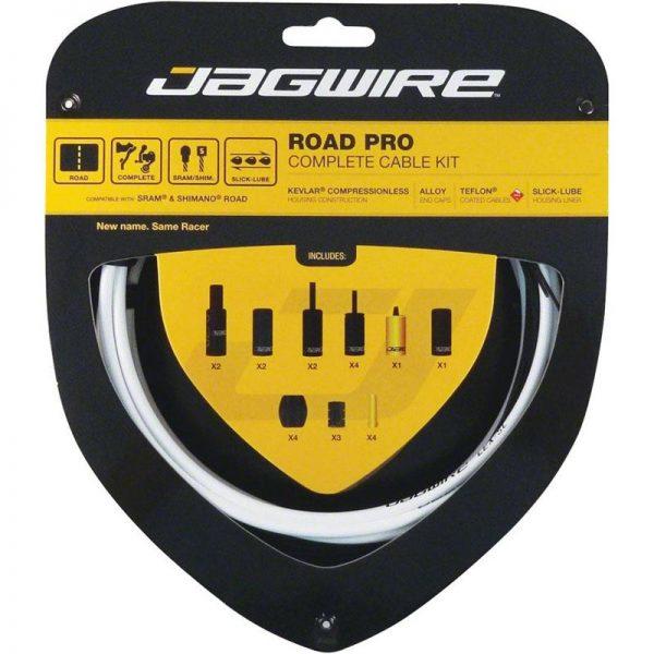 Jagwire Road Pro kit completo guaine freno e cambio Bianche