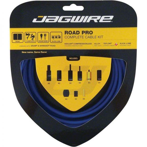 Jagwire Road Pro kit completo guaine freno e cambio Blu