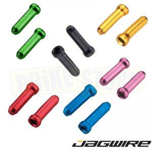 Jagwire Terminali colorati per cavo cambio e freno 10 Pezzi