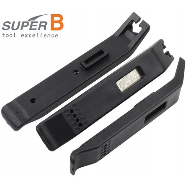 Super B TB-5566 Set 3 Levagomme Tubeless con anima in acciaio
