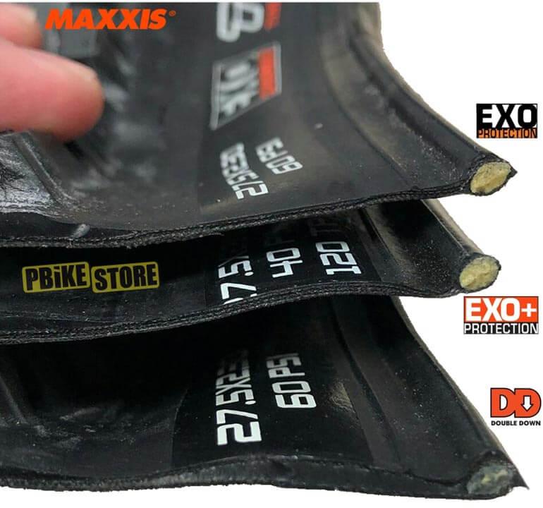 Maxxis divverenza tra le protezioni dei copertoni mtb - EXO / EXO+ / DD