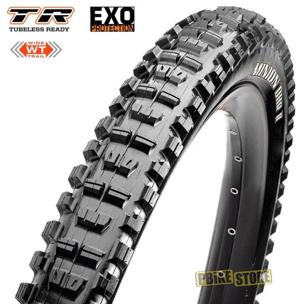 maxxis minion dhr ii 27.5x2.40 wt tubeless ready dual exo tb85962000