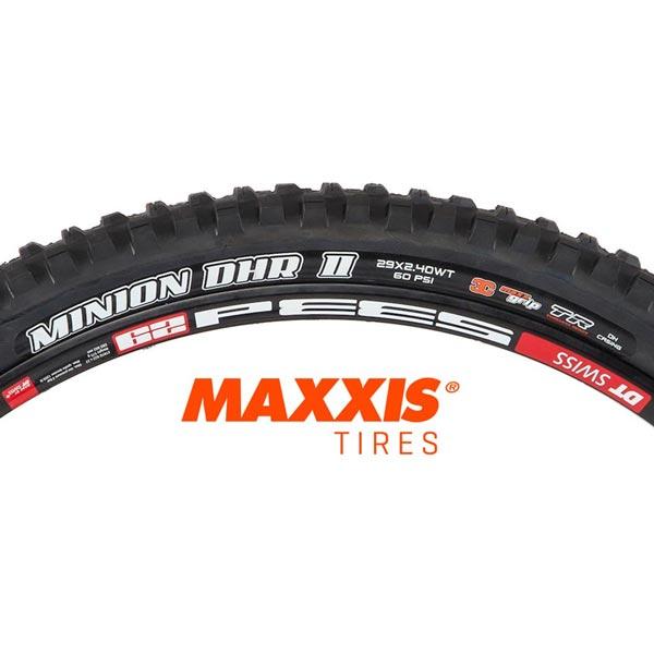 maxxis minion dhr II wt 29x2,40 2-ply dh 3c maxx grip tr tb96797500