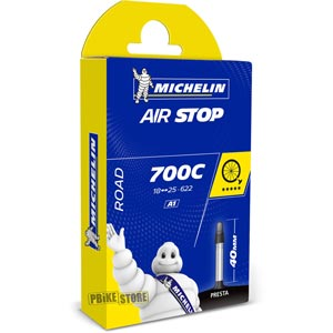 Michelin Camera Strada Airstop A1 700x18-25 Presta 40mm