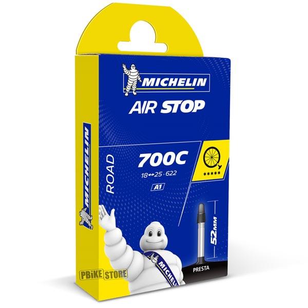 Michelin Camera Strada Airstop A1 700x18-25 Presta 52mm