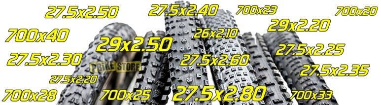 misure copertoni mtb e bici da corsa