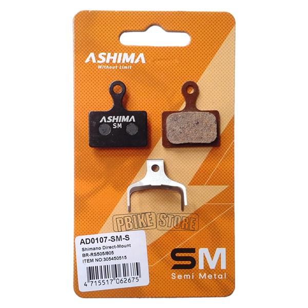 Pastiglie Ashima SemiMetalliche Shimano BR-RS505 / BR-RS805
