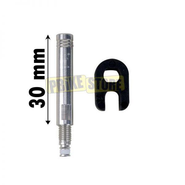 Prolunga valvola presta in alluminio 30mm con chiave