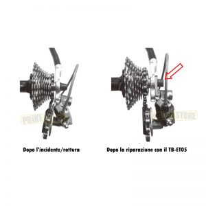 riparazione d'emergenza del Forcellino Cambio con super b TB-ET05