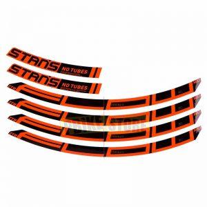 Stan's NoTubes set 4 adesivi flow MK3 arancioni