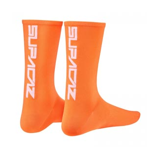 Supacaz Calze SupaSox Straight Up SL - Arancio Neon