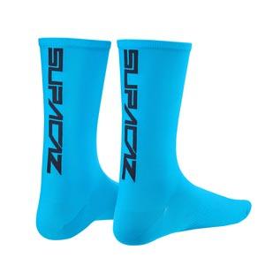 Supacaz Calze SupaSox Straight Up SL - Blu Neon