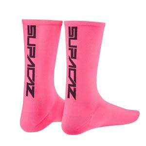Supacaz Calze SupaSox Straight Up SL - Rosa Neon