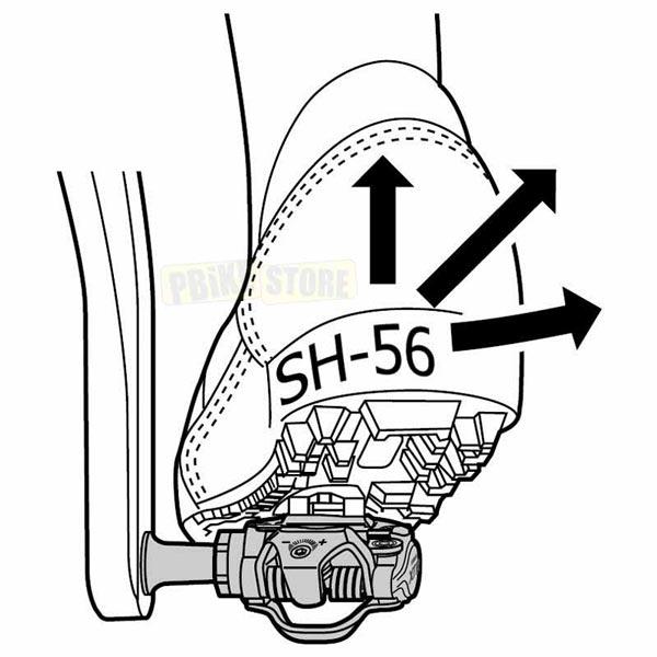 Tacchette pedali Shimano SM-SH56 funzionamento