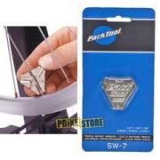 utilizzo chiave tiraraggi park tool sw-7 a tripla misura