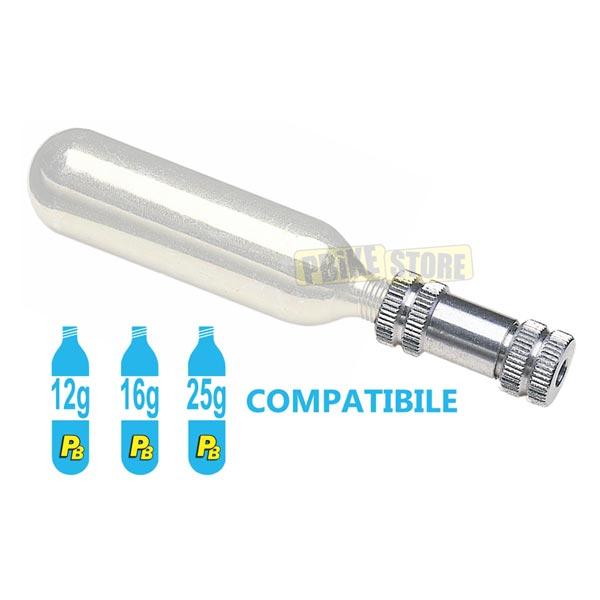 utilizzo erogatore per bombolette co2 super light